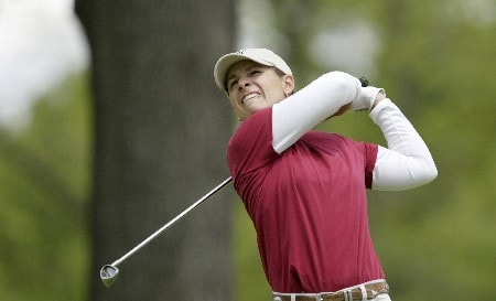 Heather Bowie tees off the second hole during the final-round of the 2005 Sybase Classic at Wykagyl Country Club in New Rochelle, NY on May 22, 2005.Photo by Michael Cohen/WireImage.com