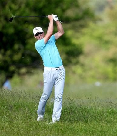 NEWPORT, WALES - JUNE 03:  Niclas Fasth of Sweden during the first round of the Celtic Manor Wales Open on the 2010 Course at the Celtic Manor Resort on June 3, 2010 in Newport, Wales.  (Photo by Ross Kinnaird/Getty Images)