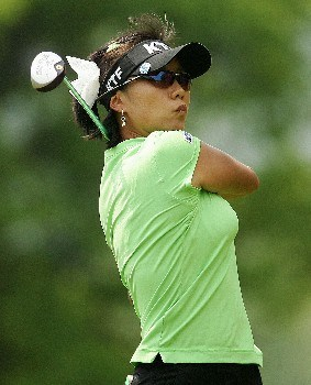 CORNING, NY - MAY 25:  Mi Hyun Kim of South Korea hits her tee shot on the sixth hole during the second round of the Corning Classic at the Corning Country Club on May 25, 2007 in Corning, New York.  (Photo by Kyle Auclair/Getty Images)