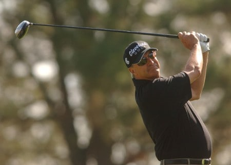 Don Pooley hits from the 11th tee during the third round of the Champions Tour 2005 Charles Schwab Cup Championship at Sonoma Golf Club in Sonoma, California October 29, 2005.Photo by Steve Grayson/WireImage.com