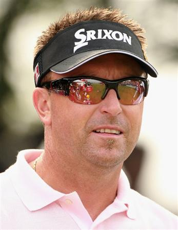 SHANGHAI, CHINA - NOVEMBER 07:  Robert Allenby of Australia during the final round of the WGC- HSBC Champions at Sheshan International Golf Club on November 7, 2010 in Shanghai, China.  (Photo by Andrew Redington/Getty Images)