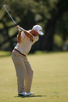 SAN ANTONIO - OCTOBER 20:  Mark James of England hits on the 10th hole during the second round of the AT&T Championship at Oak Hills Country Club October 20, 2007 in San Antonio, Texas.  (Photo by S.Greenwood/Getty Images)