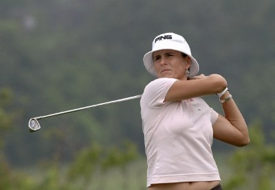 Patricia Meunier-Lebouc during the first round   at Newport Country Club, site of the 2006 U. S. Women's Open in Newport, Rhode Island, June 30.