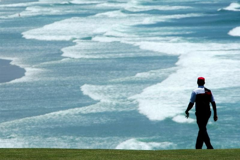PEBBLE BEACH, CA - JUNE 17:  Ricky Barnes walks down the ninth fairway during the first round of the 110th U.S. Open at Pebble Beach Golf Links on June 17, 2010 in Pebble Beach, California.  (Photo by Donald Miralle/Getty Images)