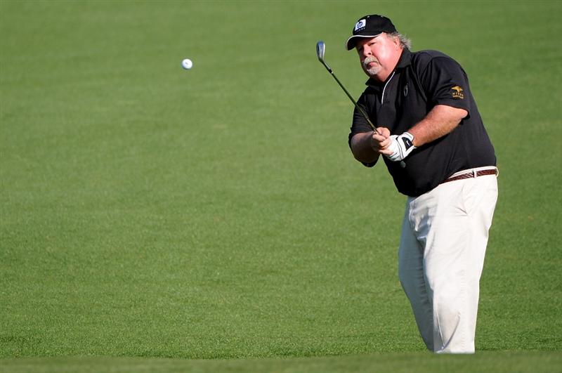 AUGUSTA, GA - APRIL 09:  Craig Stadler chips onto the second hole during the first round of the 2009 Masters Tournament at Augusta National Golf Club on April 9, 2009 in Augusta, Georgia.  (Photo by Harry How/Getty Images)