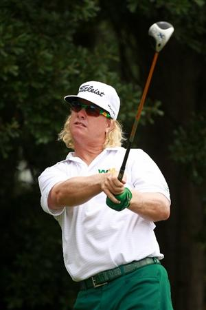 ATLANTA - SEPTEMBER 26: Charley Hoffman watches his tee shot on the third hole during the final round of THE TOUR Championship presented by Coca-Cola at East Lake Golf Club on September 26, 2010 in Atlanta, Georgia.  (Photo by Scott Halleran/Getty Images)