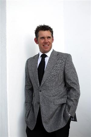 CASARES, SPAIN - MAY 17:  World number one, Lee Westwood of England poses for a picture ahead of the welcome dinner for the Volvo World Match Play Championship at Finca Cortesin on May 17, 2011 in Casares, Spain.  (Photo by Warren Little/Getty Images)