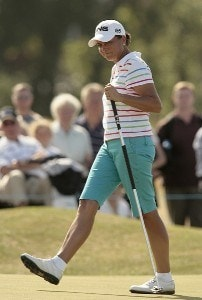 USA's Sherri Steinhauer in action during the third round of the 2006 Weetabix Women's British Open at the Royal Lytham and St. Annes Golf Club. August 5, 2006.Photo by Pete Fontaine/WireImage.com
