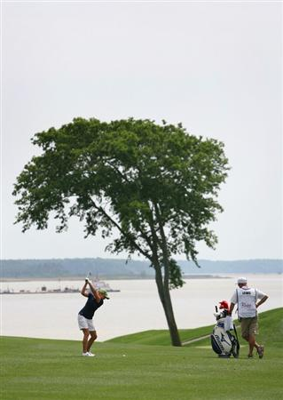WILLIAMSBURG, VA - MAY 8 : Stacy Lewis hits her second shot on the 16th hole during the second round of the Michelob Ultra Open at Kingsmill Resort on May 8, 2009 in Williamsburg, Virgina. (Photo by Hunter Martin/Getty Images)