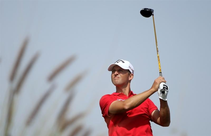 DOHA, QATAR - JANUARY 29:  Niclas Fasth of Sweden hits his tee-shot on the ninth hole during the second round of the Commercialbank Qatar Masters at Doha Golf Club on January 29, 2010 in Doha, Qatar.  (Photo by Andrew Redington/Getty Images)