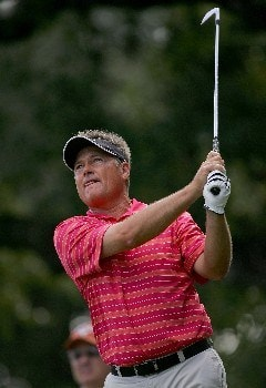 SAN ANTONIO - OCTOBER 21:  John Cook plays a shot on the 2nd hole during the final round of the AT&T Championship at Oak Hills Country Club on October 21, 2007 in San Antonio, Texas. (Photo by S.Greenwood/Getty Images)