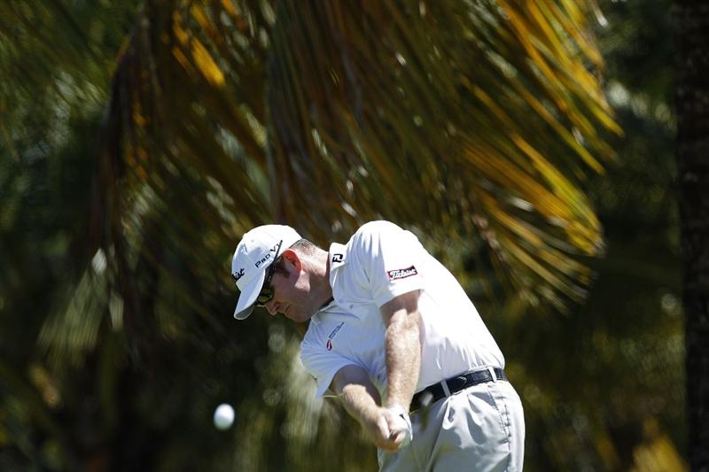 RIO GRANDE, PR - MARCH 12:  Troy Matteon hits his drive on the third hole during the third round of the Puerto Rico Open presented by seepuertorico.com at Trump International Golf Club on March 12, 2011 in Rio Grande, Puerto Rico.  (Photo by Michael Cohen/Getty Images)