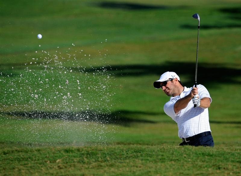 DORAL, FL - MARCH 10:  Trevor Immelman of South Africa hits a shot during a practice round for the World Golf Championships-CA Championship at the Doral Golf Resort & Spa on March 10, 2009 in Miami, Florida.  (Photo by Sam Greenwood/Getty Images)