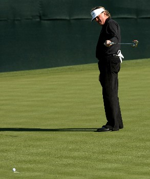 SCOTTSDALE, AZ - FEBRUARY 01:  Tommy Armour III reacts as his birdie putt attempt stops on the edge of the cup on the 16th hole during the second round of the FBR Open on February 1, 2008 at TPC of Scottsdale in Scottsdale, Arizona.  (Photo by Stephen Dunn/Getty Images)