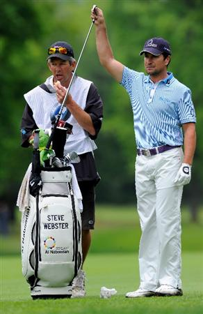 TURIN, ITALY - MAY 08:  Steve Webster of England and caddie on the eighth hole during the third round of the BMW Italian Open at Royal Park I Roveri on May 8, 2010 in Turin, Italy.  (Photo by Stuart Franklin/Getty Images)