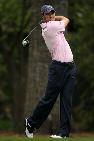 AUGUSTA, GA - APRIL 08:  Trevor Immelman of South Africa hits his tee shot on the second hole during the second round of the 2011 Masters Tournament at Augusta National Golf Club on April 8, 2011 in Augusta, Georgia.  (Photo by Andrew Redington/Getty Images)
