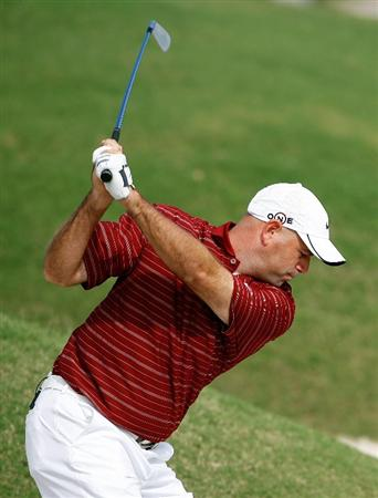 SOUTHAMPTON, BERMUDA - OCTOBER 20:  Stewart Cink hits his second shot on the 2nd hole during the first round of the PGA Grand Slam of Golf on October 20, 2009 Port Royal Golf Course in Southampton, Bermuda.  (Photo by Andy Lyons/Getty Images)