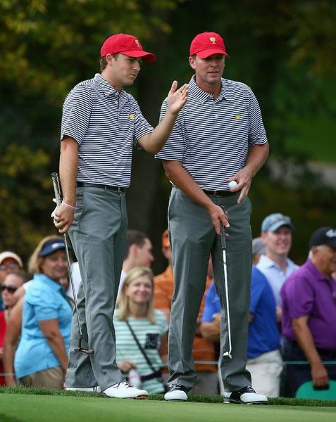 Jordan Spieth and Steve Stricker