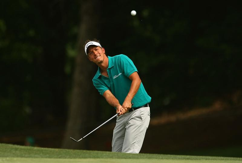 CHARLOTTE, NC - MAY 03:  Fredrik Jacobson of Sweden plays a shot on the 15th hole during the final round of the Quail Hollow Championship at the Quail Hollow Club on May 3, 2009 in Charlotte, North Carolina.  (Photo by Scott Halleran/Getty Images)