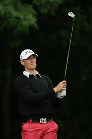 LUMBRES, FRANCE - JUNE 18:  Peter Kaensche of Denmark in action during Round Two of the Saint-Omer Open at The Aa St Omer Golf Club on June 18, 2010 in Lumbres, France.  (Photo by Christopher Lee/Getty Images)