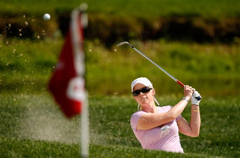 BETHLEHEM, PA - JULY 09:  Morgan Pressel hits from the sand on the 9th hole during the first round of the 2009 U.S. Women's Open at Saucon Valley Country Club on July 9, 2009 in Bethlehem, Pennsylvania.  (Photo by Streeter Lecka/Getty Images)