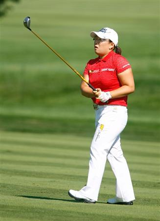 BETHLEHEM, PA - JULY 09:  Jiyai Shin of South Korea plays a shot on the first hole during the first round of the 2009 U.S. Women's Open at the Saucon Valley Country Club on July 9, 2009 in Bethlehem, Pennsylvania.  (Photo by Scott Halleran/Getty Images)