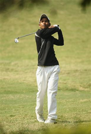 NEW DELHI, INDIA - FEBRUARY 17:  Rashid Khan of India in action during the first round of the Avantha Masters held at The DLF Golf and Country Club  on February 17, 2011 in New Delhi, India.  (Photo by Ian Walton/Getty Images)