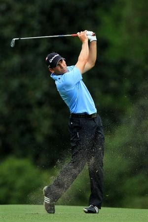AUGUSTA, GA - APRIL 08:  Sergio Garcia of Spain hits his second shot on the fifth hole during the second round of the 2011 Masters Tournament at Augusta National Golf Club on April 8, 2011 in Augusta, Georgia.  (Photo by David Cannon/Getty Images)