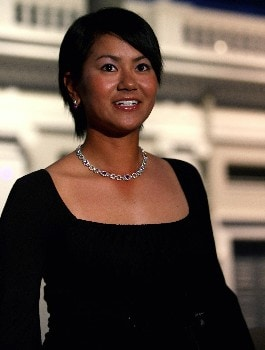 SINGAPORE - FEBRUARY 27:  Ai Miyazato of Japan wears borrowed, valuable jewellery as she attends the Welcome Party prior to the start of the HSBC Women's Champions at Tanah Merah Country Club on February 27, 2008 in Singapore.  (Photo by Andrew Redington/Getty Images)