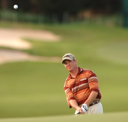 Ted Purdy chips onto the ninth tee during the first round of the PGA TOUR's 2005 Mercedes Championships at The Plantation At Kapalua, in Kapalua Maui, Hawawii January 5, 2005Photo by Steve Grayson/WireImage.com
