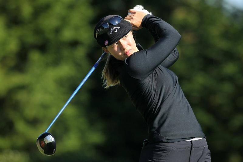 SHIMA, JAPAN - NOVEMBER 05:  Vicky Hurst of the United States plays a tee shot on the 13th hole during round one of the Mizuno Classic at Kintetsu Kashikojima Country Club on November 5, 2010 in Shima, Mie, Japan.  (Photo by Kiyoshi Ota/Getty Images)