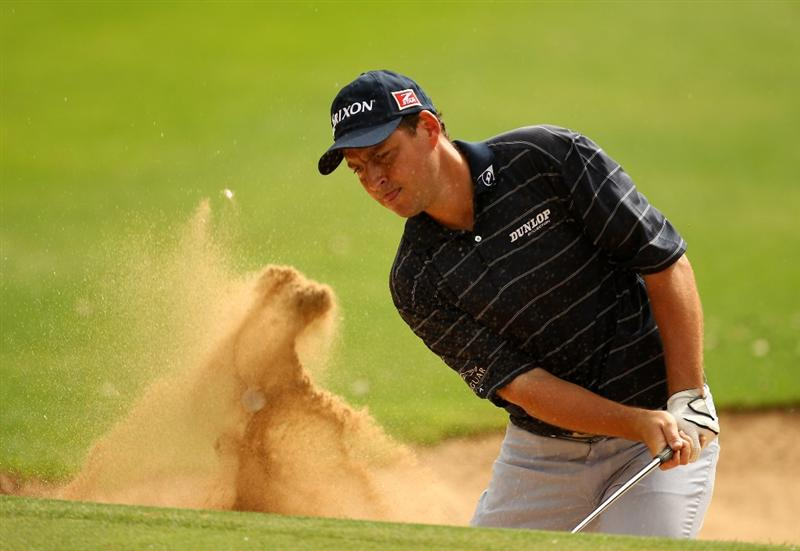 RABAT, MOROCCO - MARCH 19:  David Howell of England plays from a bunker on the 13th during the second round of the Hassan II Golf Trophy at Royal Golf Dar Es Salam on March 19, 2010 in Rabat, Morocco.  (Photo by Richard Heathcote/Getty Images)