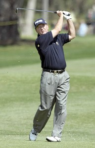 Bob Gilder in action during the first round of the Toshiba Classic, March 17, 2006, held at Newport Beach Country Club, Newport Beach, California. Photo by Gregory Shamus/WireImage.com