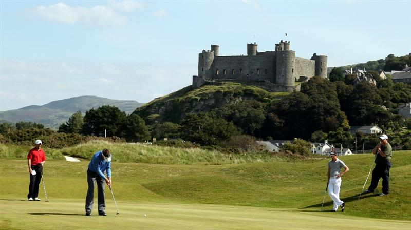 HARLECH, WALES - SEPTEMBER 1: Sean McDonagh of Rushmore Park during the second round of the RCW2010 Welsh National PGA Championship at the Royal St. David's Golf Club on September 1, 2010 in Harlech, Wales.  (Photo by Ross Kinnaird/Getty Images)