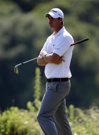 CASARES, SPAIN - MAY 22:  Nicolas Colsaerts of Belgium during the semi-final of the Volvo World Match Play Championship at Finca Cortesin on May 22, 2011 in Casares, Spain.  (Photo by Ross Kinnaird/Getty Images)