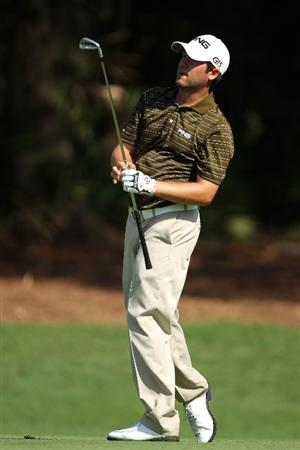 PONTE VEDRA BEACH, FL - MAY 06:  Alex Prugh watches a shot on the second hole during the first round of THE PLAYERS Championship held at THE PLAYERS Stadium course at TPC Sawgrass on May 6, 2010 in Ponte Vedra Beach, Florida.  (Photo by Scott Halleran/Getty Images)