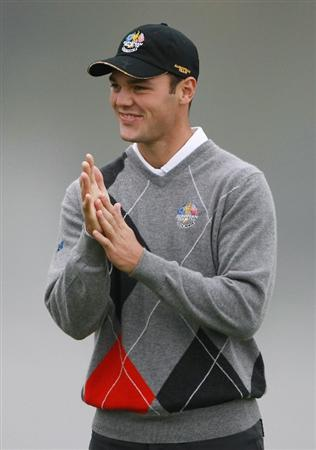 NEWPORT, WALES - SEPTEMBER 28:  Martin Kaymer of Europe looks on during a practice round prior to the 2010 Ryder Cup at the Celtic Manor Resort on September 28, 2010 in Newport, Wales.  (Photo by Scott Halleran/Getty Images)