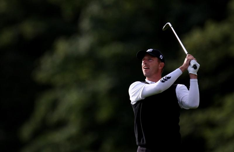 PERTH, UNITED KINGDOM - AUGUST 29:  Sorren Hansen of Denmark on the par four 11th hole during the second round of The Johnnie Walker Championship at Gleneagles on August 29, 2008 at the Gleneagles Hotel and Resort in Perthshire, Scotland.  (Photo by Ross Kinnaird/Getty Images)
