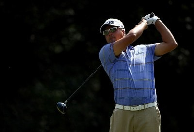 Daniel Chopra tees off on the 15th hole during the third round of the Valero Texas Open at La Cantera Golf Club October 6, 2007 in San Antonio, Texas. PGA TOUR - 2007 Valero Texas Open - Third RoundPhoto by Jonathan Ferrey/WireImage.com