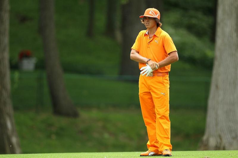 DUBLIN, OH - JUNE 06:  Rickie Fowler is pictured on the second hole during the final round of The Memorial Tournament presented by Morgan Stanley at Muirfield Village Golf Club on June 6, 2010 in Dublin, Ohio.  (Photo by Andy Lyons/Getty Images)
