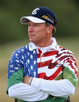 SOUTHPORT, UNITED KINGDOM - JULY 20:  Woody Austin of USA look on from the 6th during the final round of the 137th Open Championship on July 20, 2008 at Royal Birkdale Golf Club, Southport, England.  (Photo by Stuart Franklin/Getty Images)