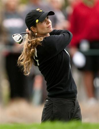 DANVILLE, CA - OCTOBER 17: Beatriz Recari of Spain follows through on a tee shot during the final round of the CVS/Pharmacy LPGA Challenge at Blackhawk Country Club on October 17, 2010 in Danville, California. (Photo by Darren Carroll/Getty Images)