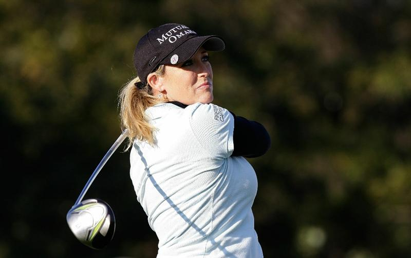 INCHEON, SOUTH KOREA - OCTOBER 29:  Cristie Kerr of the United States hits a tee shot on the 18th hole during the 2010 LPGA Hana Bank Championship at Sky 72 Golf Club on October 29, 2010 in Incheon, South Korea.  (Photo by Chung Sung-Jun/Getty Images)