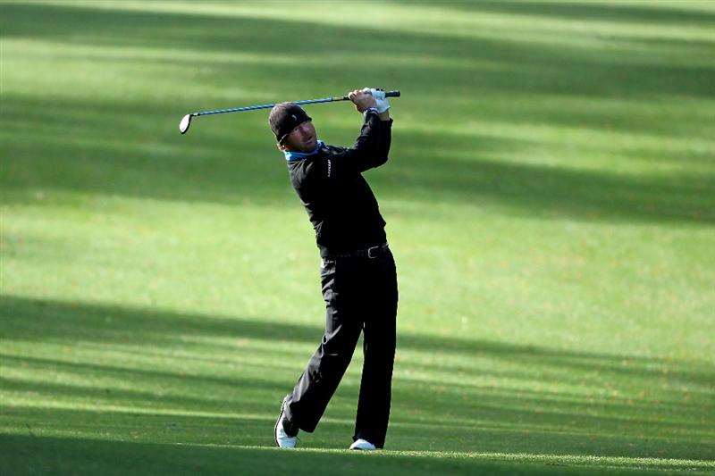 AUGUSTA, GA - APRIL 05:  Alex Cejka of Germany watches a shot during a practice round prior to the 2011 Masters Tournament at Augusta National Golf Club on April 5, 2011 in Augusta, Georgia.  (Photo by Andrew Redington/Getty Images)