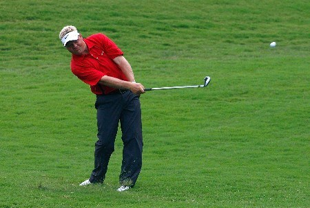 GREENSBORO, NC - AUGUST 17:  Carl Pettersson plays his second shot from the rough on the 14th hole during the final round of the 2008 Wyndham Championship at Sedgefield Country Club on August 17, 2008 in Greensboro, North Carolina.  (Photo by Kevin C. Cox/Getty Images)