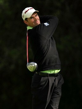 PACIFIC PALISADES, CA - FEBRUARY 14: Padraig Harrington of Ireland hits his tee shot on the 12th hole during the first round of the Northern Trust Open on February 14, 2008 at Riviera Country Club in Pacific Palisades. California.  (Photo by Stephen Dunn/Getty Images)