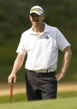 BRIDGEPORT, WV - JUNE 27: Tom Gillis waits to putt on the 17th hole during the third round of the Nationwide Tour Players Cup at Pete Dye Golf Club on June 27, 2009 in Bridgeport, West Virginia. (Photo by Chris Keane/Getty Images)