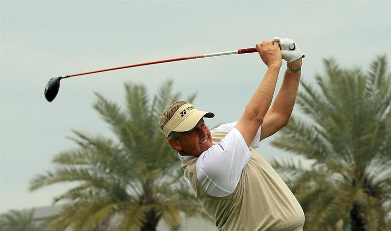 BAHRAIN, BAHRAIN - JANUARY 26:  Colin Montgomerie of Scotland during the pro-am for the 2011 Volvo Champions held at the Royal Golf Club on January 26, 2011 in Bahrain, Bahrain.  (Photo by David Cannon/Getty Images)