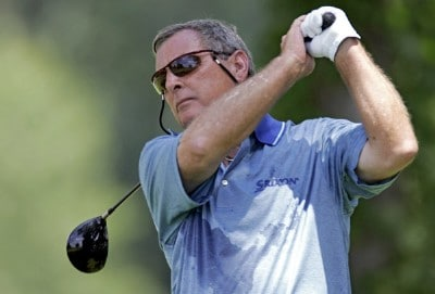 Fuzzy Zoeller during the third round of the Ford Senior Players Championship held at TPC Michigan in Dearborn, Michigan, on July 15, 2006.Photo by Gregory Shamus/WireImage.com