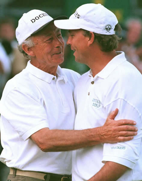 Tom Lehman and father Jim